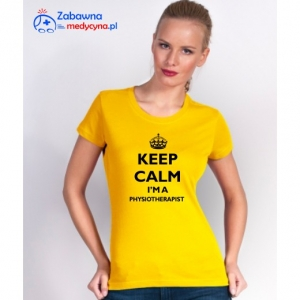 T-shirt damski KEEP CALM I'M A PHYSIOTHERAPIST