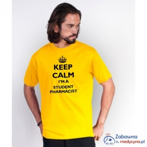 T-shirt męski KEEP CALM I'M A STUDENT PHARMACIST