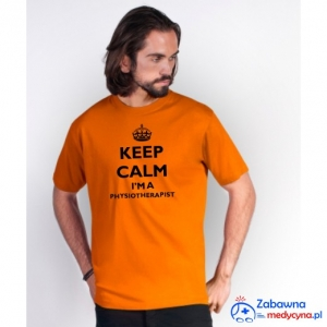 T-shirt męski KEEP CALM I'M A PHYSIOTHERAPIST