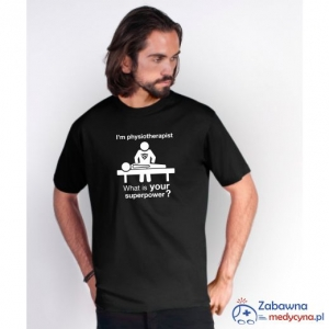 T-shirt FIZJOTERAPEUTA SUPERPOWER