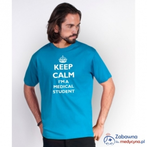T-shirt męski KEEP CALM I'M A MEDICAL STUDENT
