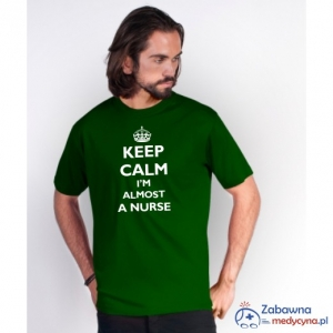 T-shirt męski KEEP CALM I'M ALMOST A NURSE