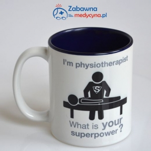 Kubek I'm physiotherapist what is your superpower? z kolorowym wnętrzem