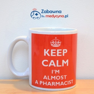 Kubek KEEP CALM I'M ALMOST A PHARMACIST